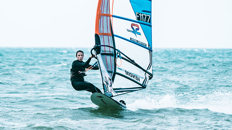 Justine Lemeteyer - Windsurf / © Laurent Besnehard